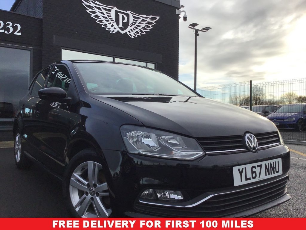 USED 2018 67 VOLKSWAGEN POLO 1.2 MATCH EDITION TSI 5d 89 BHP WARRANTY,  MOT AND SERVICE INC