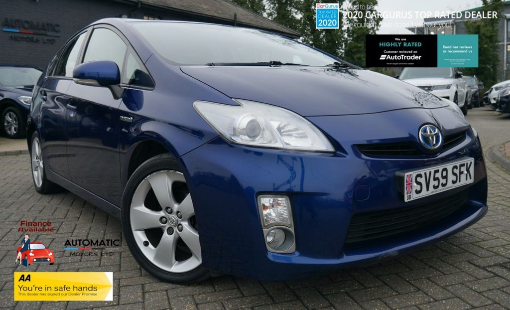 USED 2009 59 TOYOTA PRIUS 1.8 T4 VVT-I  5d 99 BHP TOYOTA PRIUS 1.8 T4 BLUETOOTH UK MODEL