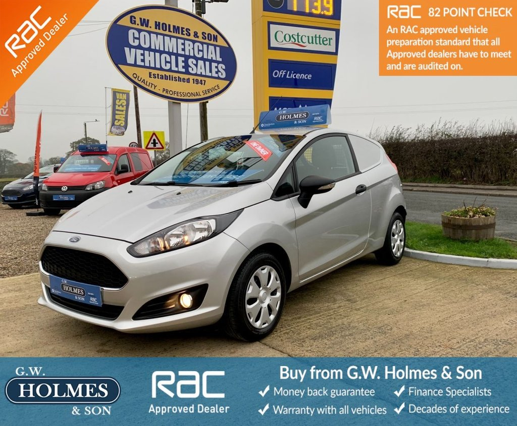 USED 2016 66 FORD FIESTA VAN 1.5 TDCI 95 BHP **EURO 6**DIRECT N-POWER**ONLY 39K**CHOICE OF 5**
