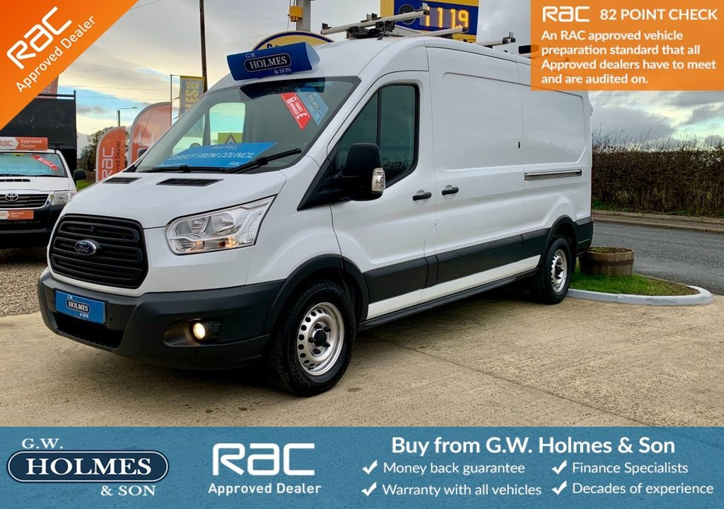 USED 2016 16 FORD TRANSIT 350 FWD 2.2 TDCI 125 BHP L3 H2 **DIRECT COUNCIL**ONLY 43K**RACKING**FFSH**