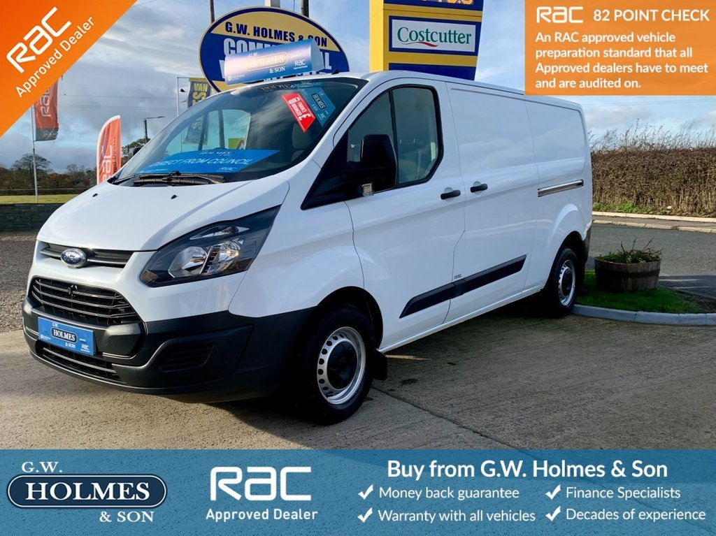 USED 2013 63 FORD TRANSIT CUSTOM 2.2 TDCI 290 100 BHP L2 H1 **LWB**DIRECT COUNCIL**ONLY 27000 MILES**