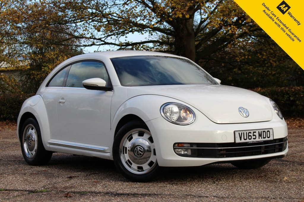 USED 2015 65 VOLKSWAGEN BEETLE 2.0 DESIGN TDI BLUEMOTION TECHNOLOGY 3d 148 BHP ** FULL SERVICE HISTORY ** BRAND NEW SERVICE ** MOT UNTIL OCT 2021 ** ONLY £30 ROAD TAX ** ULEZ CHARGE EXEMPT ** LOW RATE £0 DEPOSIT FINANCE AVAILABLE ** CLICK & COLLECT AVAILABLE ** NATIONWIDE DELIVERY AVAILABLE **