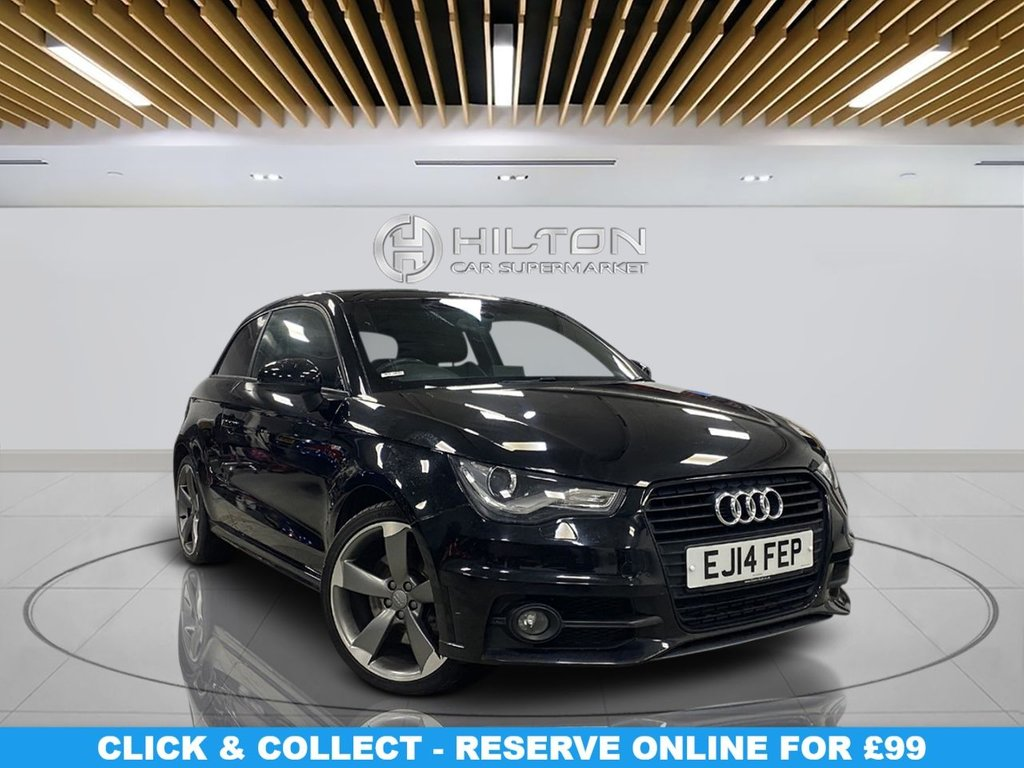 "USED 2014 14 AUDI A1 1.4 TFSI BLACK EDITION 3d 185 BHP Automatic Transmission, Half-Leather Seats,18""Alloy Wheels, Parking Sensor(s), Privacy Glass, Climate Control"