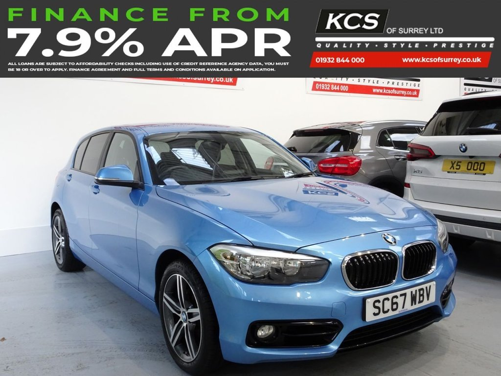 USED 2017 67 BMW 1 SERIES 2.0 118D SPORT 5d 147 BHP SAT NAV - BLUETOOTH - DAB