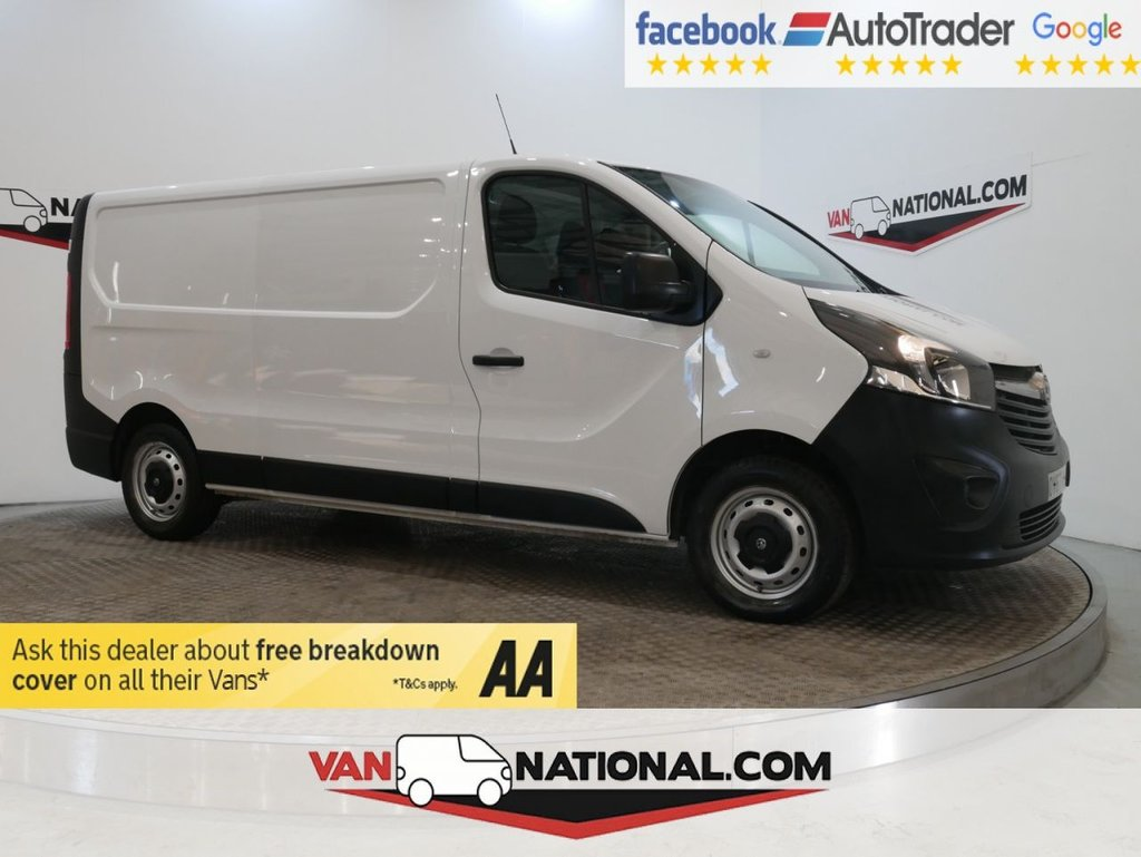 USED 2017 67 VAUXHALL VIVARO 1.6 L2 H1 2900 CDTI 120 BHP LWB *EURO 6* * EURO 6 * LWB * BLUETOOTH * DAB * ZERO DEPOSIT FINANCE AVAILABLE *