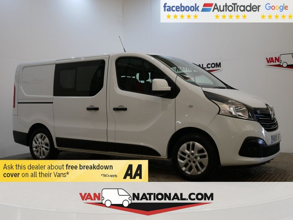 USED 2018 18 RENAULT TRAFIC 1.6 SL27 SPORT NAV ENERGY DCI CREW 145 BHP KOMBI *EURO 6 * AIR CON* * EURO 6 * 6 SEATS * NAV * ALLOYS * ZERO DEPOSIT FINANCE AVAILABLE *