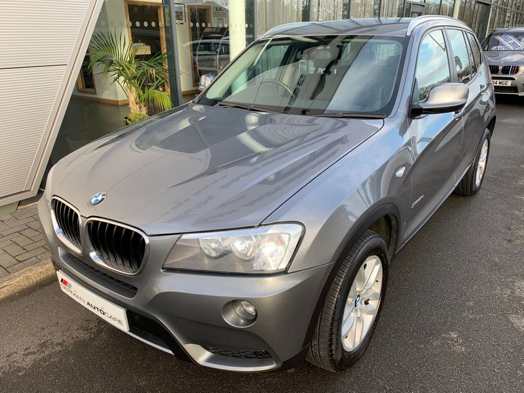 USED 2013 63 BMW X3 2013/63 - 2.0 X-DRIVE 20 D - SE 5d 181 BHP £3130 OPT/EXT  AUTOMATIC + NEVADA BLACK LEATHER + HEATED F + R