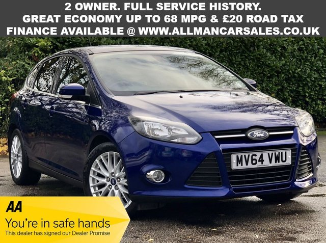 USED 2014 64 FORD FOCUS 1.0 ZETEC 5d 99 BHP