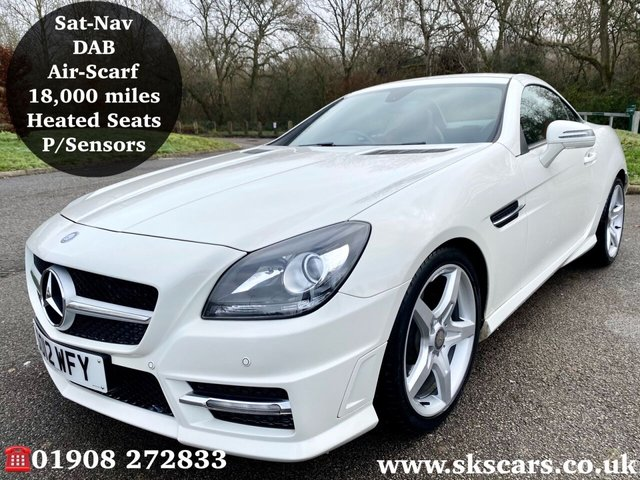 2012 12 MERCEDES-BENZ SLK 1.8 SLK200 BLUEEFFICIENCY AMG SPORT 2d 184 BHP