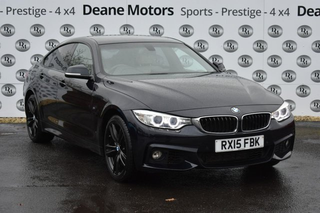 2015 15 BMW 4 SERIES 3.0 435D XDRIVE M SPORT GRAN COUPE 4d 309 BHP BLACK PACK