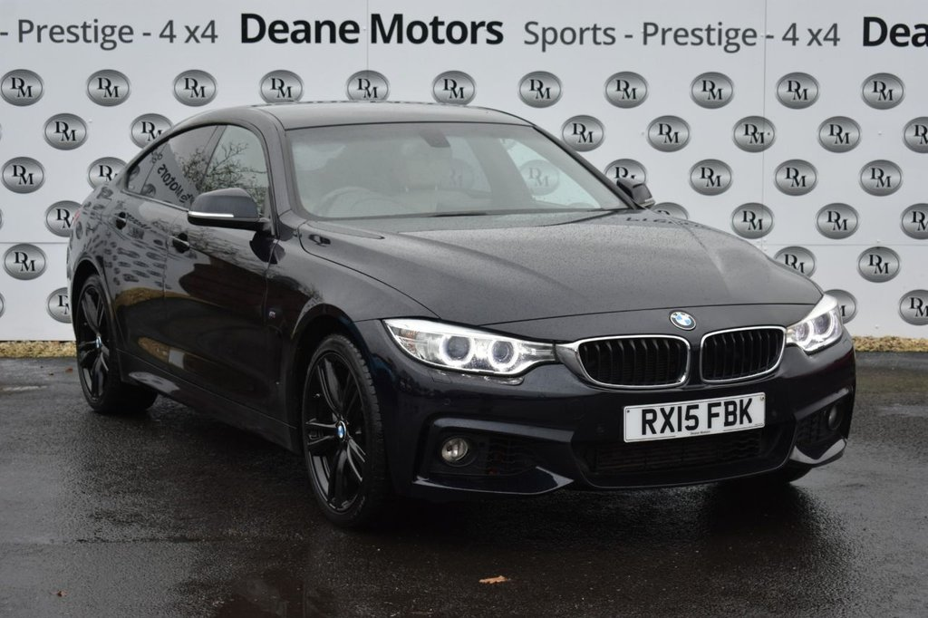 USED 2015 15 BMW 4 SERIES 3.0 435D XDRIVE M SPORT GRAN COUPE 4d 309 BHP BLACK PACK