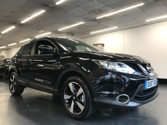 USED 2017 67 NISSAN QASHQAI 1.2 N-VISION DIG-T 5d 113 BHP 1 OWNER WITH FULL SERVICE HISOTRY, 360 CAMERA, HALF LEATHER HEATED SEATS, TOUCHSCREEN SATNAV