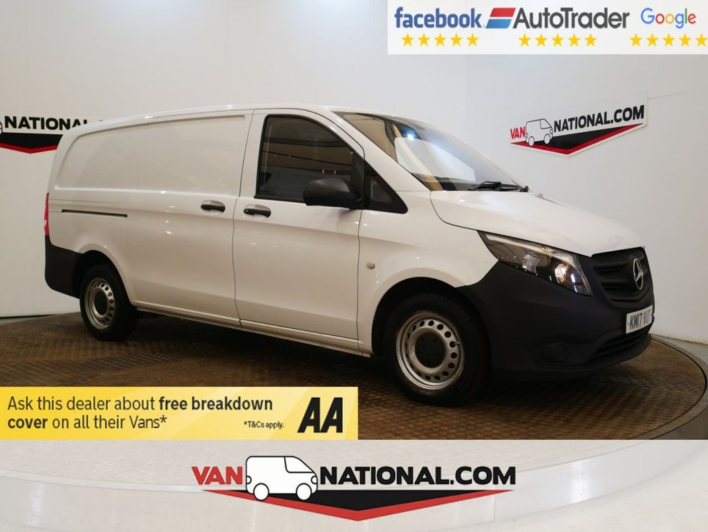 USED 2017 17 MERCEDES-BENZ VITO 1.6 111 CDI 115 BHP 2.8T LONG *TAILGATE * 5 DOOR* * ONE OWNER * TAILGATE * LWB * ZERO DEPOSIT FINANCE AVAILABLE *
