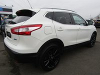 USED 2015 15 NISSAN QASHQAI 1.5 DCI TEKNA 5d 108 BHP 1 OWNER, SAT/NAV, LEATHER, DAB, BLUETOOTH, 5 SERVICES, FRESHLY BLACK POWDER COATED ALLOYS....