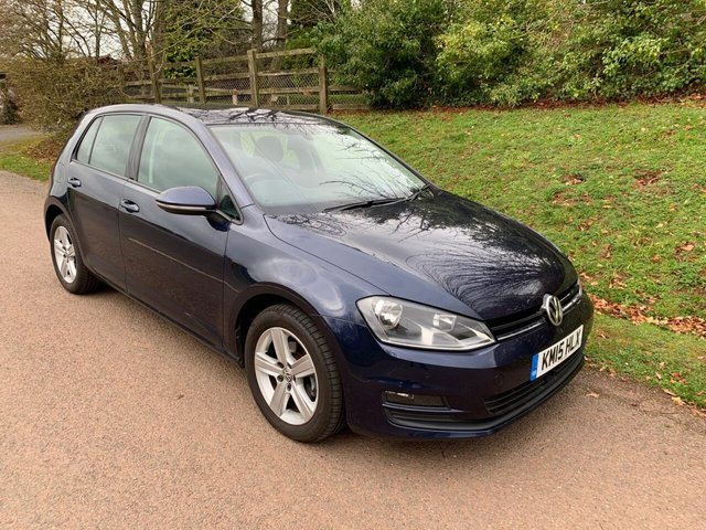 USED 2015 15 VOLKSWAGEN GOLF 1.6 MATCH TDI BLUEMOTION TECHNOLOGY 5d 103 BHP ** MOT ** FULL SERVICE HISTORY ** £0 ROAD FUND **