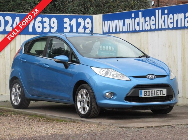 USED 2012 61 FORD FIESTA 1.4 ZETEC 16V 5d 96 BHP FULL FORD HISTORY X8 STAMPS