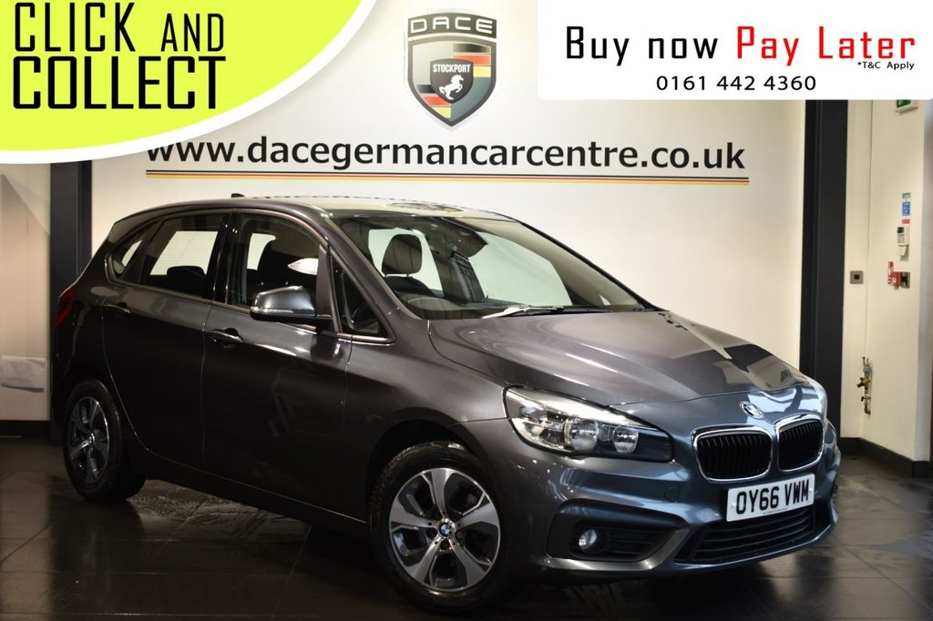 USED 2016 66 BMW 2 SERIES ACTIVE TOURER 2.0 218D SE ACTIVE TOURER 5DR 148 BHP Finished in a stunning mineral metallic grey styled with alloys. Upon entry you are presented with full service history, anthracite upholstery, satellite navigation, bluetooth, cruise control, DAB radio, parking sensors, multi function steering wheel, automatic trunk mechanism, teleservices, rain sensors, lumbar support, storage package