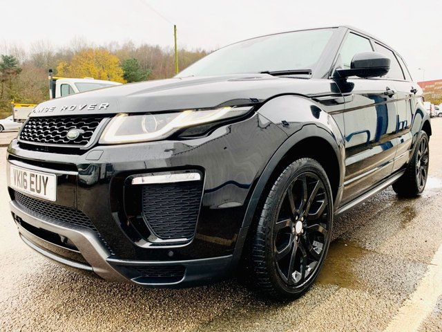 """USED 2016 16 LAND ROVER RANGE ROVER EVOQUE 2.0 TD4 HSE DYNAMIC 5d 177 BHP PANORAMIC GLASS ROOF WITH POWER BLIND - SATELLITE NAVIGATION - SATELLITE NAVIGATION - 20"""" BLACK ALLOY WHEELS - HSE DYNAMIC MODEL - AMBIENT MOOD LIGHTING - REVERSE CAMERA - LAND ROVER HISTORY - 12 MONTH MOT"""