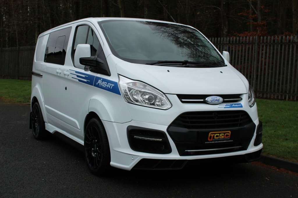 USED 2017 17 FORD TRANSIT CUSTOM 2.0 310 MS-RT M SPORT LR DCIV P/V 168 BHP A GENUINE 5 SEAT COMBI MS-RT CUSTOM IN STUNNING CONDITION WITH NO VAT TO BE ADDED!!!