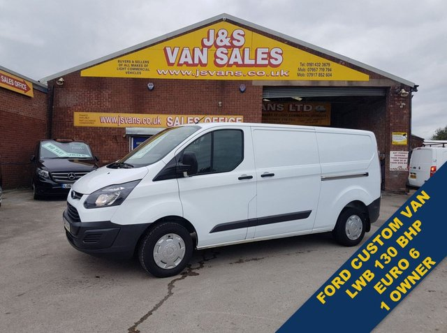 USED 2017 17 FORD TRANSIT CUSTOM 2.0 T290 L.W.B EURO 6 1 OWNER VAN 84K ONLY  ###### BIG STOCK EURO 5/6 OVER VANS OVER 100 ON SITE #######