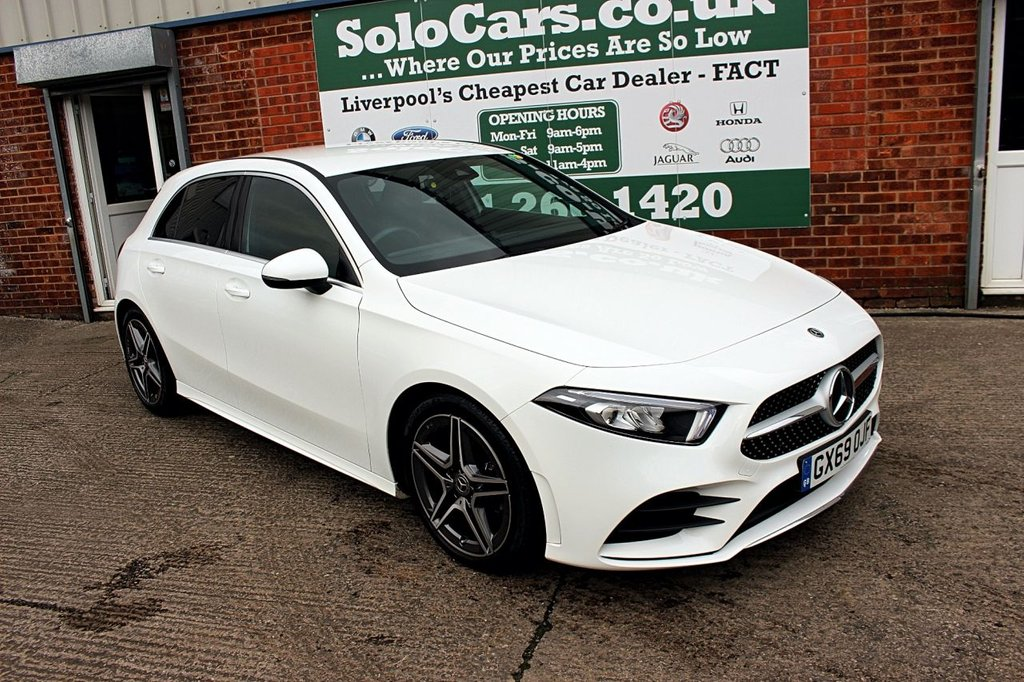 USED 2019 69 MERCEDES-BENZ A-CLASS 1.3 A 180 AMG LINE 5d 135 BHP +AMG LINE +LOW MILES +LIKE NEW