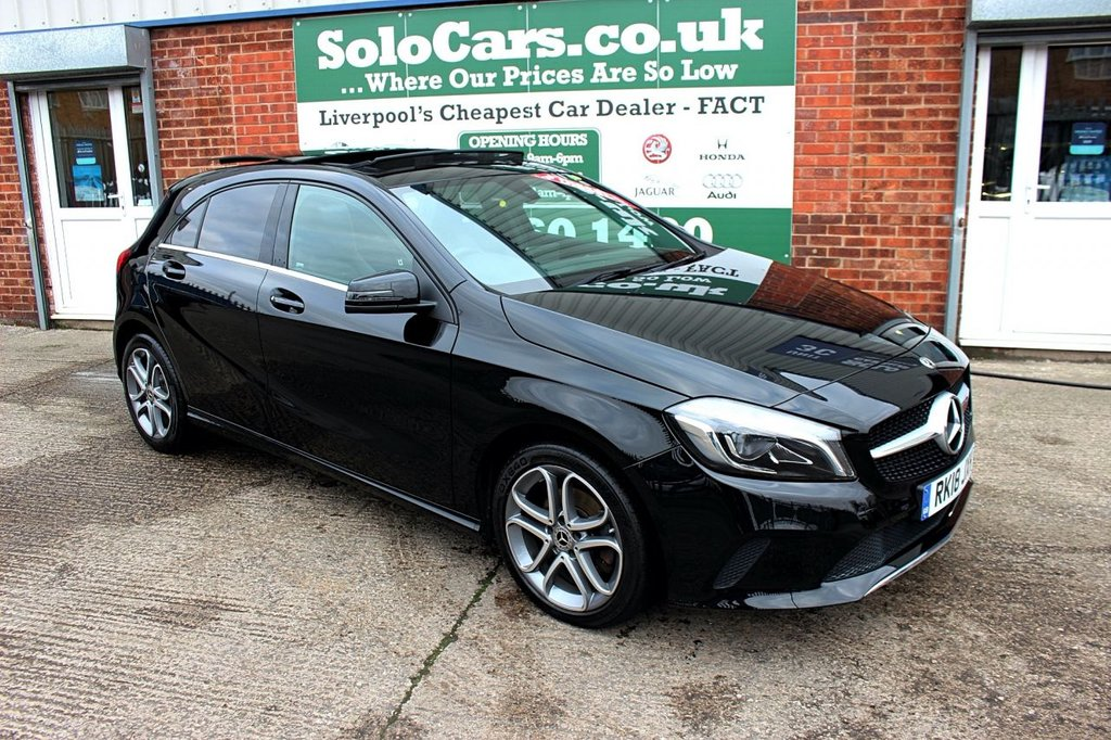 USED 2018 18 MERCEDES-BENZ A-CLASS 2.1 A 200 D SPORT EDITION PLUS 5d 134 BHP +PANORAMIC ROOF +SERVICED +NAV
