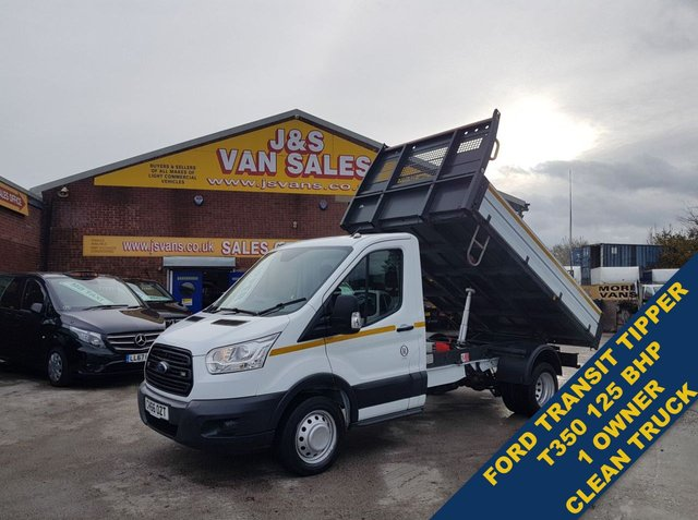 USED 2016 66 FORD TRANSIT T350 125 bhp  TIPPER TRUCK 1 OWNER 71K MLS  ###### BIG STOCK EURO 5/6 OVER VANS OVER 100 ON SITE #######