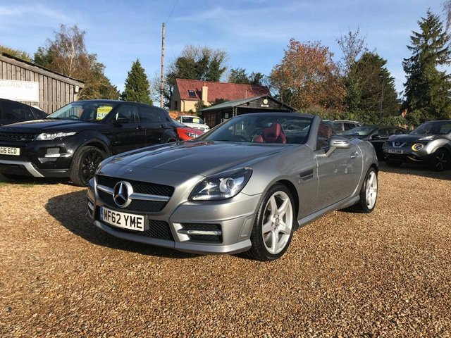 USED 2012 62 MERCEDES-BENZ SLK 2.1 SLK250 CDI BlueEFFICIENCY AMG Sport 7G-Tronic Plus (s/s) 2dr Air Scarf, PanRoof Red Leather
