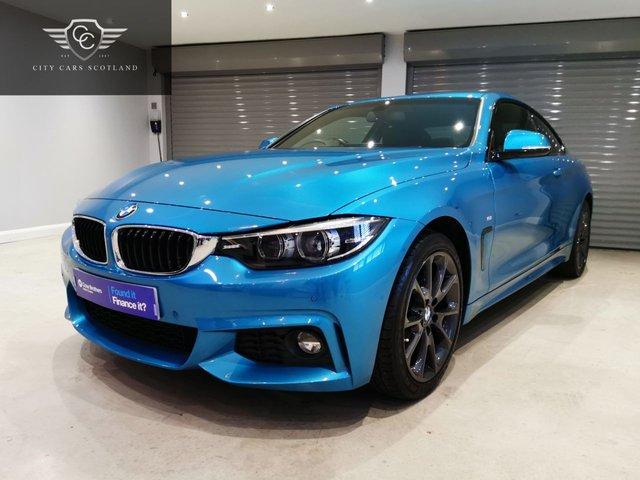 USED 2018 18 BMW 4 SERIES 2.0 420D M SPORT 2d 188 BHP SNAPPER ROCKS BLUE + PROFESSIONAL MEDIA PACK + SATELLITE NAVIGATION