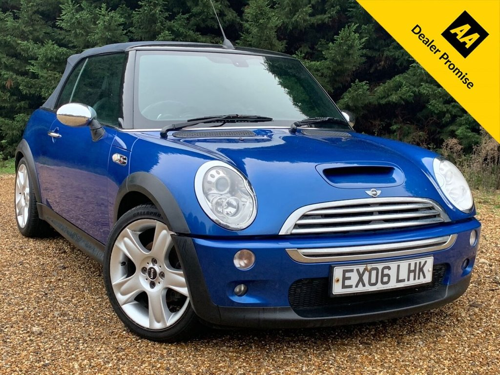 USED 2006 06 MINI CONVERTIBLE 1.6L COOPER S 2d 168 BHP