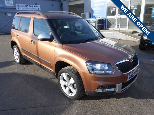 USED 2014 63 SKODA YETI 1.2 OUTDOOR SE TSI DSG 5d AUTO 103 BHP CLICK + COLLECT THIS VEHICLE
