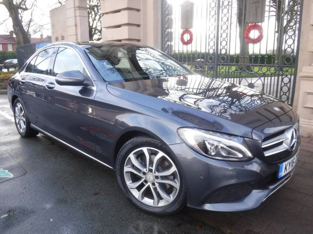 USED 2016 16 MERCEDES-BENZ C-CLASS 2.1 C220 D SPORT PREMIUM PLUS 4d 170 BHP £20 TAX*LEATHER*PAN ROOF*PARKING SENSORS*ELECTRIC TAILG