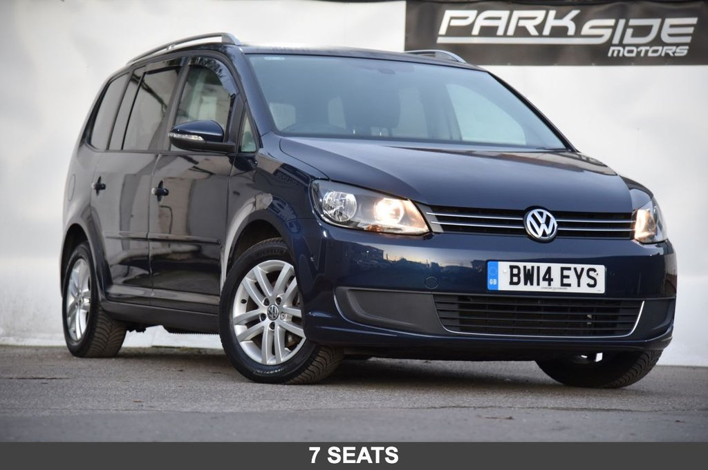 USED 2014 14 VOLKSWAGEN TOURAN 1.6 SE TDI BLUEMOTION TECHNOLOGY DSG 5d 106 BHP Manual | 7 Seats | Full Service History | 2 Keys | Park Assist | 12 Months MOT | Stop / Start | HPI Clear
