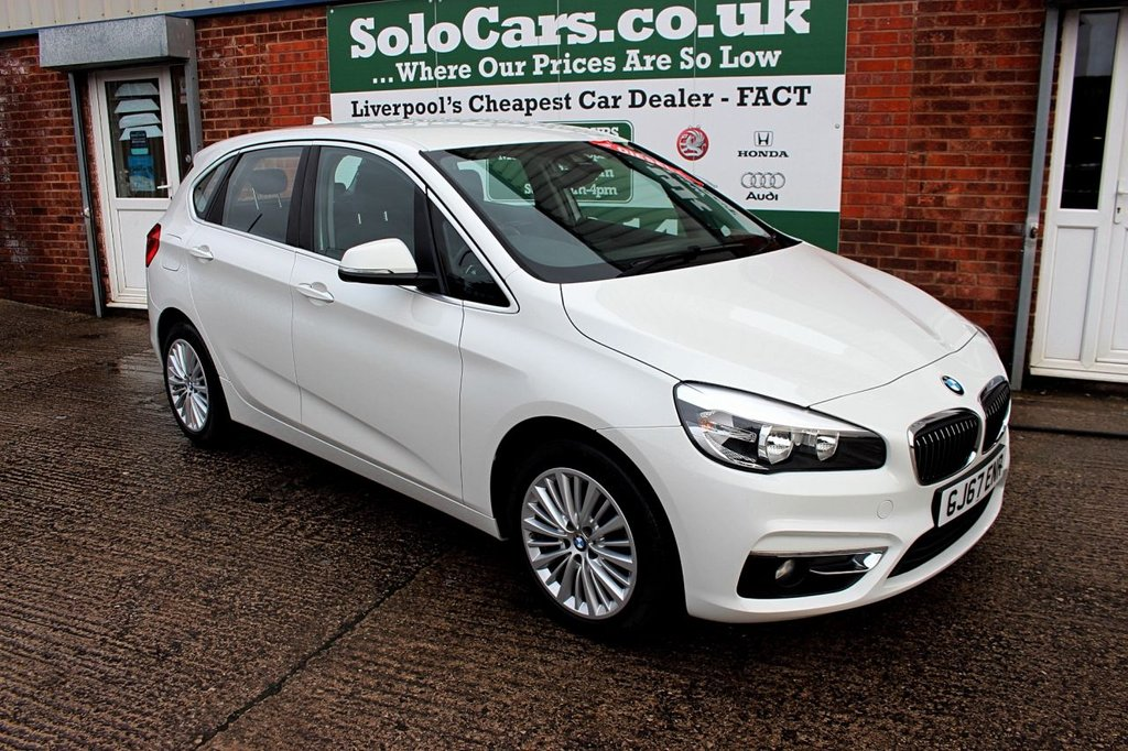 USED 2017 67 BMW 2 SERIES 2.0 218D LUXURY ACTIVE TOURER 5d AUTO 148 BHP +ONE OWNER +LEATHER +SAT NAV.