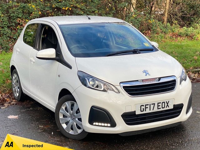 USED 2017 17 PEUGEOT 108 1.0 ACTIVE 5d 68 BHP * IDEAL FIRST CAR * BLUETOOTH MEDIA PLAYBACK *