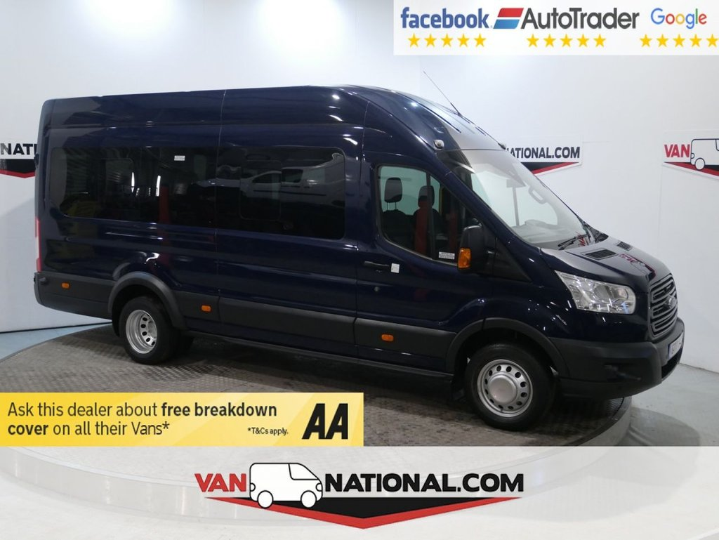 USED 2017 17 FORD TRANSIT 2.2 460 TREND H/R MINI BUS 17 SEATER (XLWB 17 SEATER AIR CON ) * ONE OWNER * EURO 6 * 17 SEATER * AIR CON * ZERO DEPOSIT FINANCE AVAILABLE *