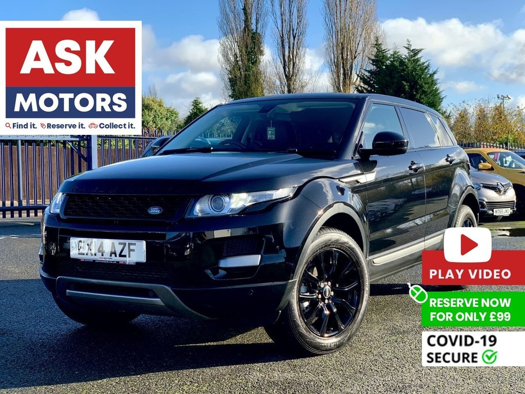 USED 2014 14 LAND ROVER RANGE ROVER EVOQUE 2.2 SD4 PURE TECH 5d 190 BHP 6 SERVICES SPARE KEY