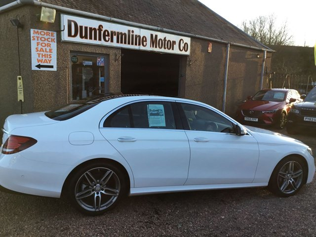 USED 2016 66 MERCEDES-BENZ E-CLASS 2.0 E 220 D AMG LINE PREMIUM 4d 192 BHP ++STUNNING IN WHITE +LOW MILEAGE++