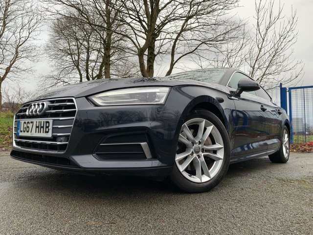 """USED 2017 67 AUDI A5 2.0 SPORTBACK TDI ULTRA SPORT 5d 188 BHP 2 KEYS+PRIVACY GLASS+CLIMATE CONTROL+MEDIA+PARKING SENSORS+NAV+LEATHER SEATS+HEATED SEATS+ELECTRIC SEATS+17"""" ALLOY WHEEL+MEDIA+BLUETOOTH+MEDIA+AUX+USB+DAB+HPI CLEAR+VOSA MOT HISTORY PRINTOUT, PART EXCHANGE WELCOME, FULL DEALER FACILITIES, CLEAN CAR+NICE DRIVE+"""