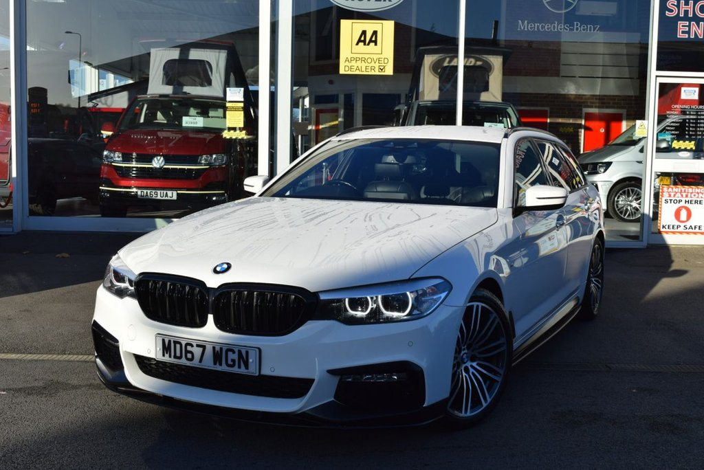 USED 2017 67 BMW 5 SERIES 2.0 520D M SPORT TOURING 5d 188 BHP FINANCE TODAY WITH NO DEPOSIT - SERVICE HISTORY