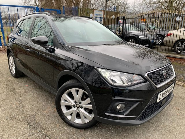 "USED 2018 68 SEAT ARONA 1.0 TSI SE TECHNOLOGY DSG 5d 114BHP AUTO 2 KEYS+NAVIGATION+AIR CONDITIONING+PARKING SENSORS+ELECTRIC WINDOWS+17"" ALLOY WHEELS+BLUETOOTH+MEDIA+AUXILIARY+USB+DAB RADIO+HPI CLEAR REPORT & FULL VALET, VOSA MOT HISTORY PRINT OUT, PX WELCOME,"
