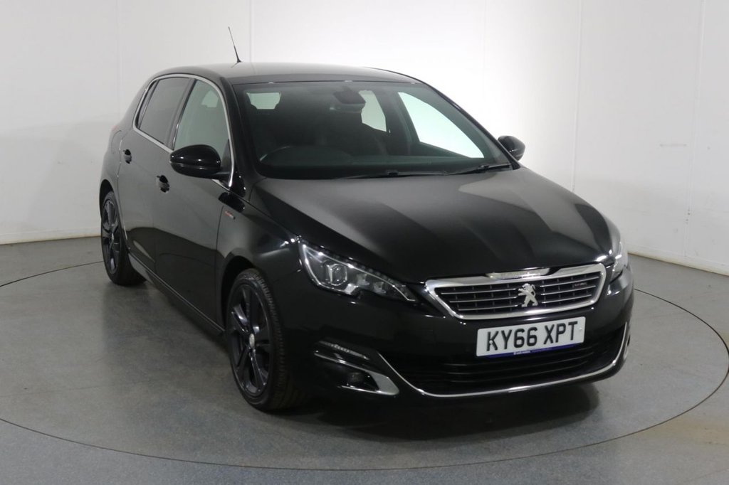 USED 2016 66 PEUGEOT 308 2.0 BLUE HDI S/S GT LINE 5d 150 BHP 2 OWNERS with 3 Stamp SERVICE HISTORY