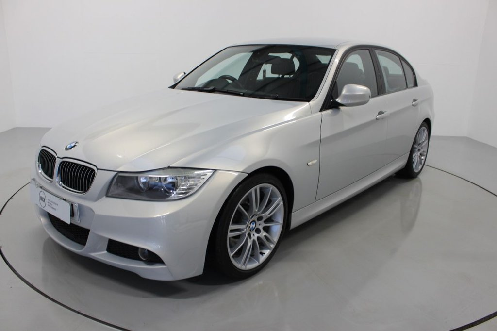 USED 2009 09 BMW 3 SERIES 3.0 325D M SPORT 4d-1 OWNER FROM 3 MONTHS OLD-HEATED BLACK DAKOTA LEATHER, 18