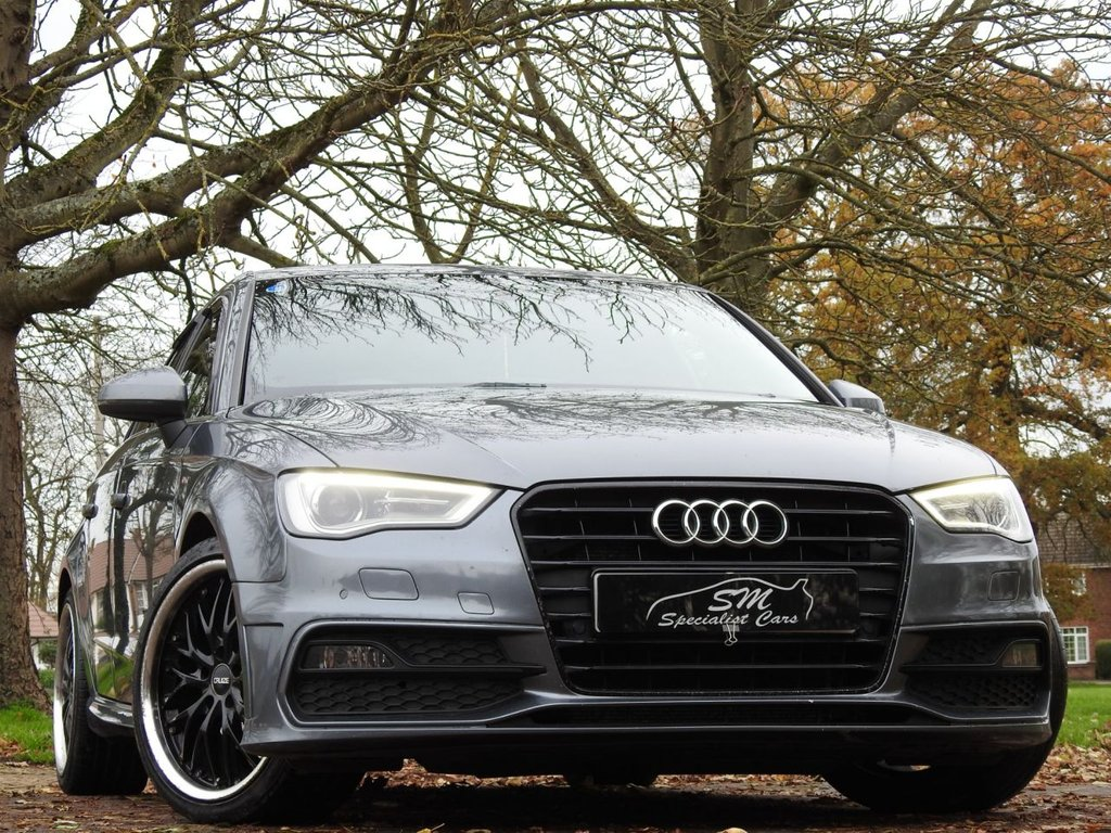 USED 2013 02 AUDI A3 2.0 TDI S LINE 5d 148 BHP HUGE SPEC LEATHER SAT NAV A/C