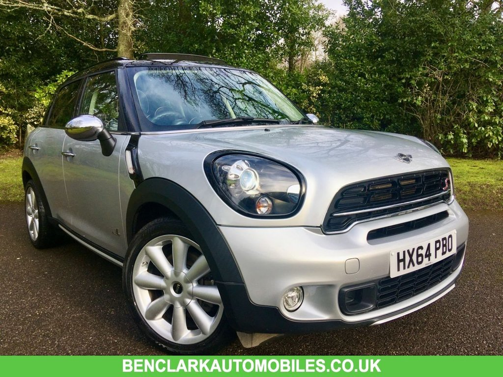USED 2014 64 MINI COUNTRYMAN 1.6 COOPER S ALL4 5d AUTO 184 BHP SATNAV/ PAN ROOF/FULL LEATHER/HEATED SEATS/CHILLI AND MEDIA PACK/REAR PARK SENSORS//RUNFLATS//FULL MINI HISTORY GREAT SPECIFICATION//MINI BIKE RACK SYSTEM(RACK NOT INCLUDED) //LAST SERVICED @36,000 MILES//FULL BLACK HEATED LOUNGE LEATHER SEATS//SAT NAV//PANORAMIC SUNROOF