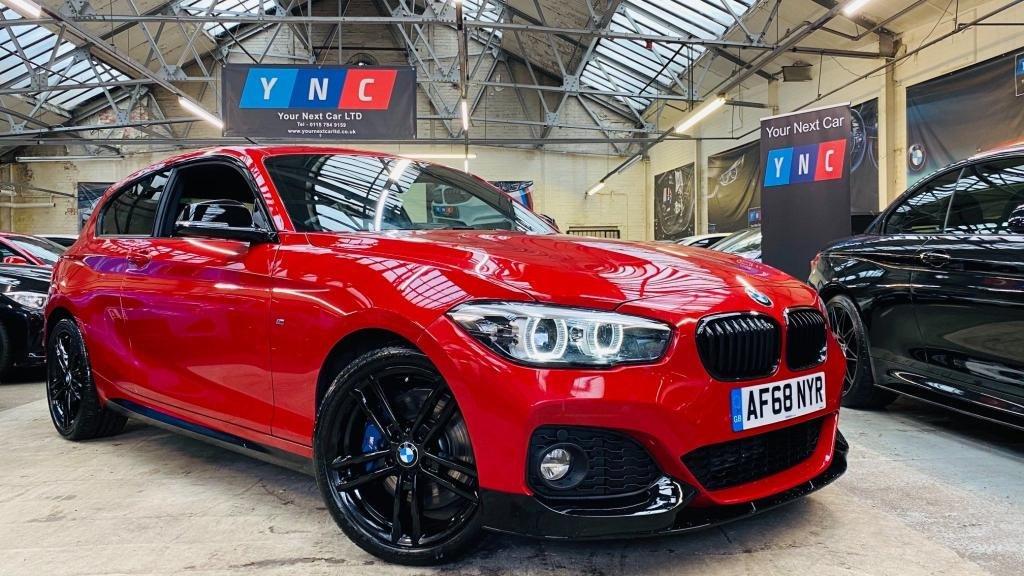 USED 2018 68 BMW 1 SERIES 2.0 125d M Sport Shadow Edition Sports Hatch Auto (s/s) 3dr SHADOWED!+YNCSTYLING+RARECAR!