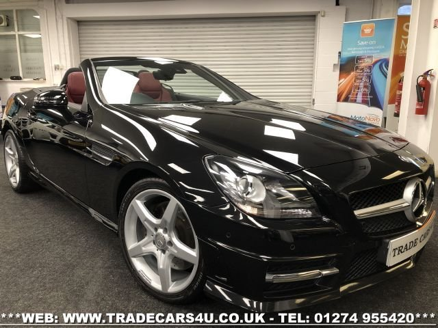 USED 2013 63 MERCEDES-BENZ SLK 2.1 SLK250 CDI BLUEEFFICIENCY AMG SPORT 2d 204 BHP FREE UK DELIVERY*VIDEO AVAILABLE* FINANCE ARRANGED* PART EX*HPI CLEAR
