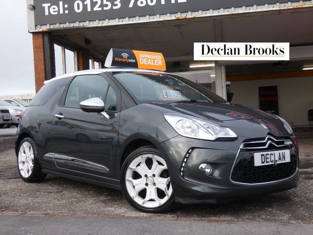 USED 2014 14 CITROEN DS3 1.6 e-HDi Airdream DSport Plus 3dr FULL LEATHER - PARK ASSIST