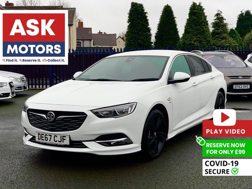 USED 2017 67 VAUXHALL INSIGNIA 1.5 GRAND SPORT SRI VX-LINE NAV 5d 163 BHP APPLE CAR PLAY SAT NAV PARKING SENSORS