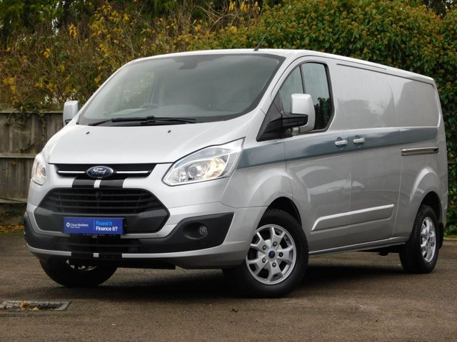 USED 2014 14 FORD TRANSIT CUSTOM 2.2 290 LIMITED LR P/V 124 BHP NO VAT+Aircon+Alloys+Inverter